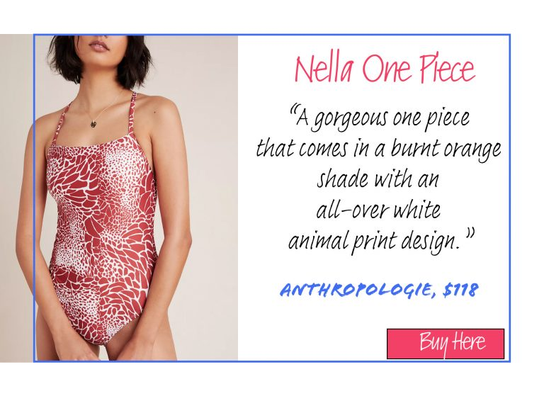 A List of 15 of Our Favorite Swimsuits for 2020: Nella One Piece