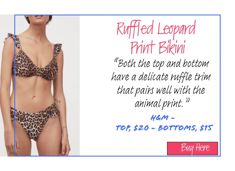 A List of 15 of Our Favorite Swimsuits for 2020: Ruffled Leopard Print Bikini