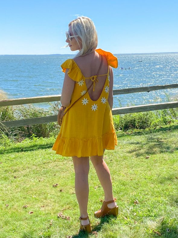 My Favorite Looks So Far This Year: a bohemian gold sundress