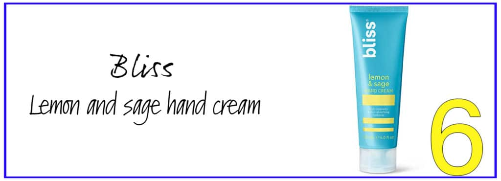 Bliss lemon and sage hand cream for dry and cracked hands