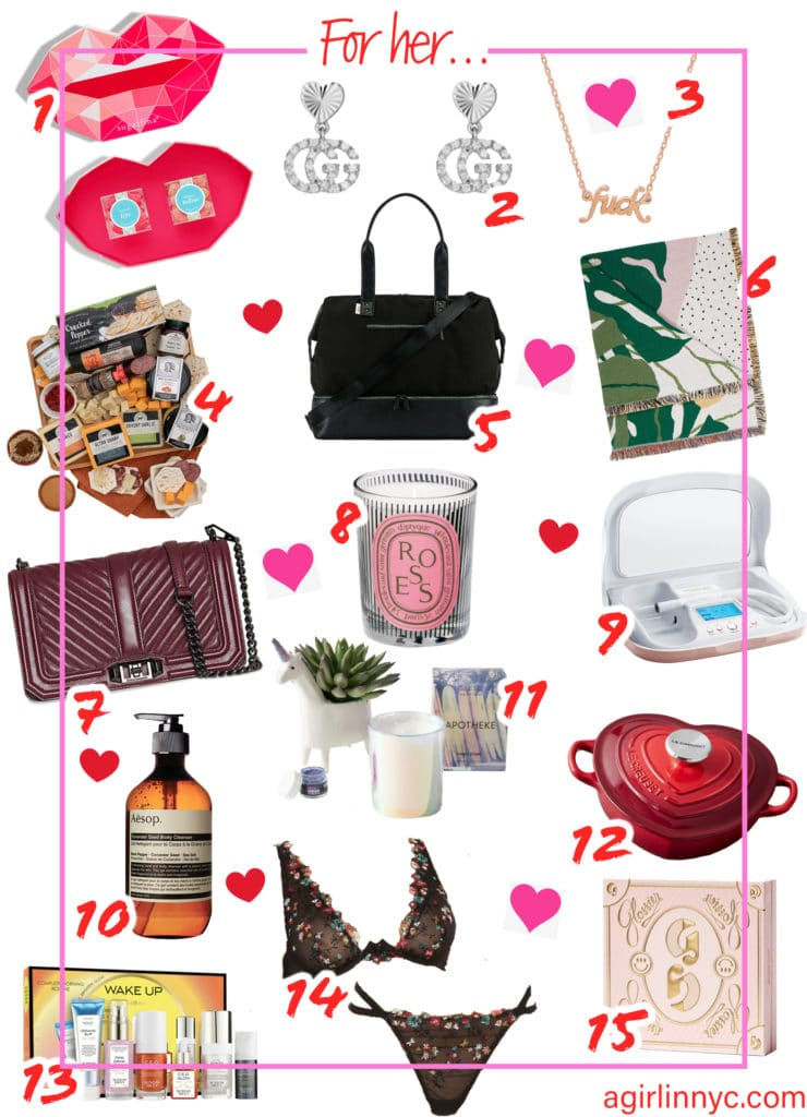 Valentine's Day gift guide ideas for her