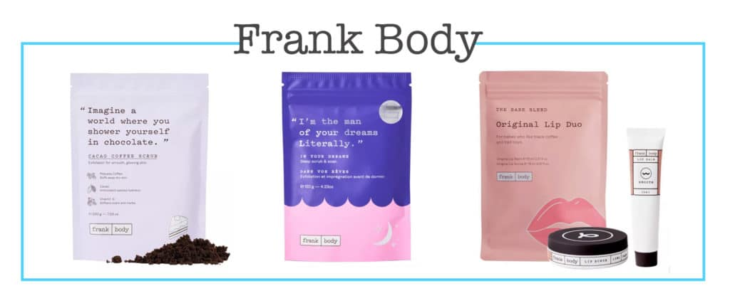 Frank Body in the Target beauty aisle