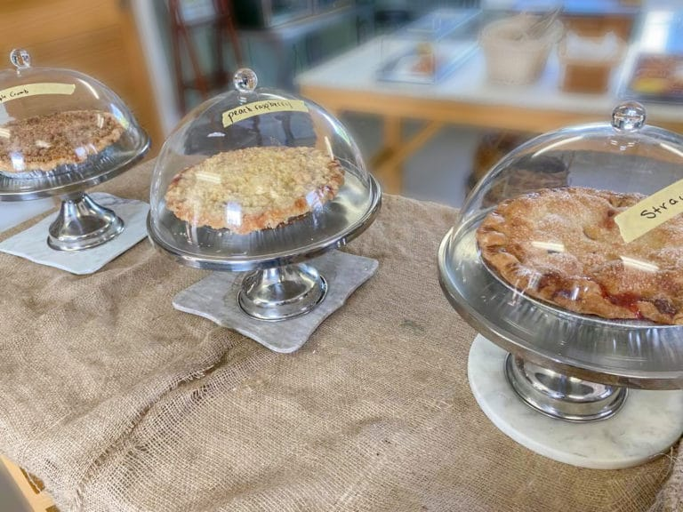 Memories of the summer: pie from Oyster River Market