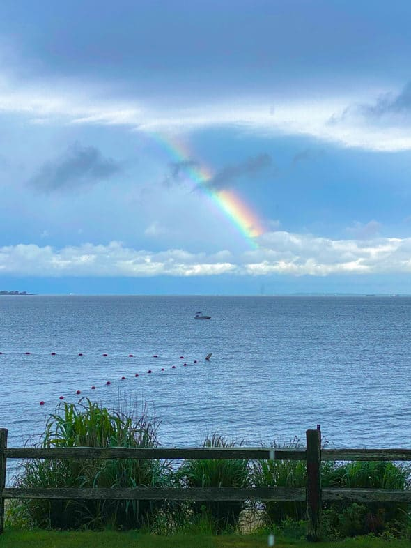 Memories of the summer: rainbow over Long Island Sound